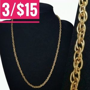 Prince Of Wales Twisted Rope Chain Necklace